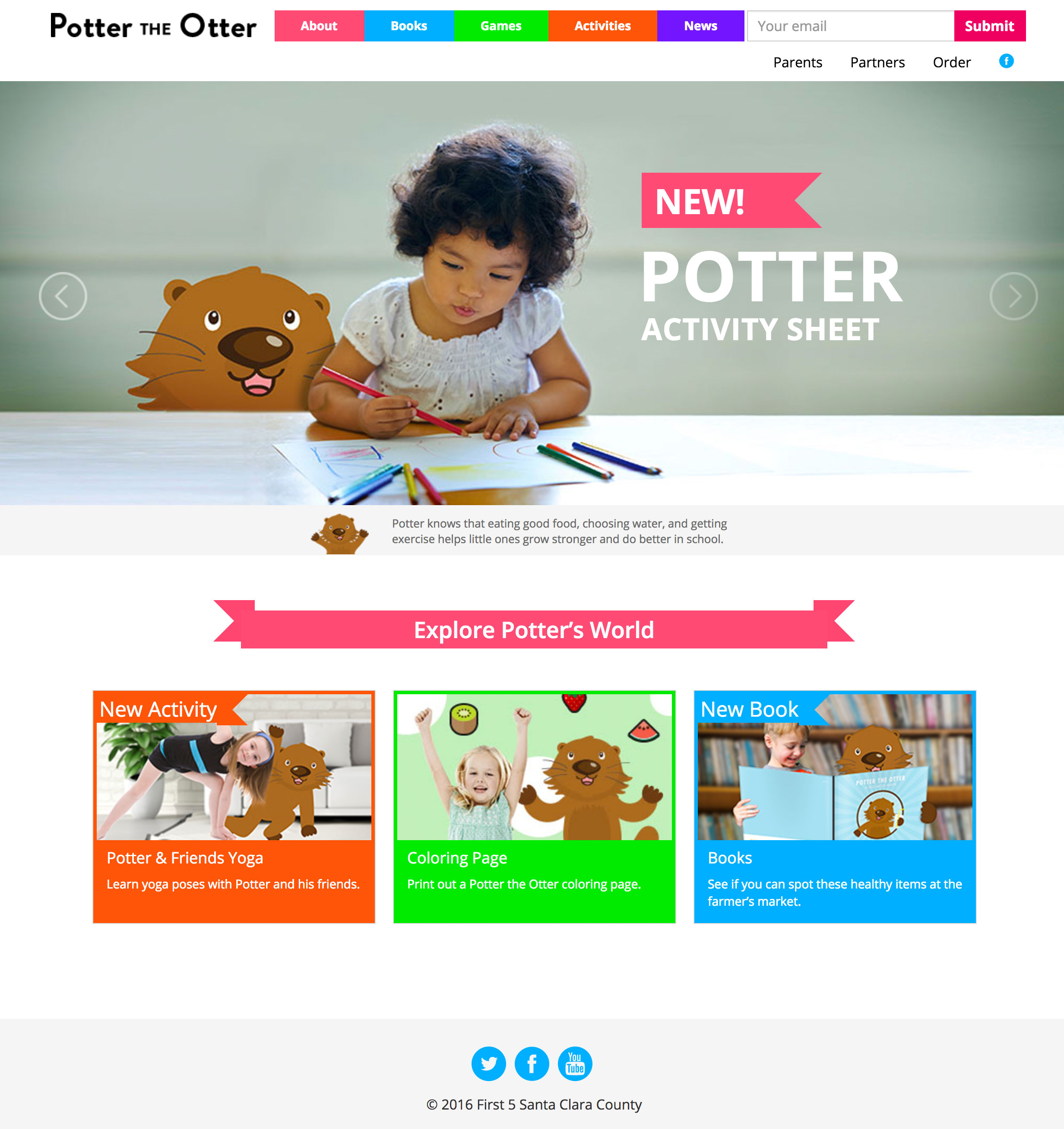 Potter The Otter Homepage